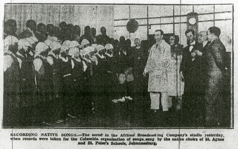 Columbia experts recording in JHB, June 16, 1930