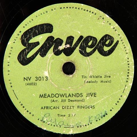 African Dizzy Fingers - Meadowlands Jive / Tshela Metsi