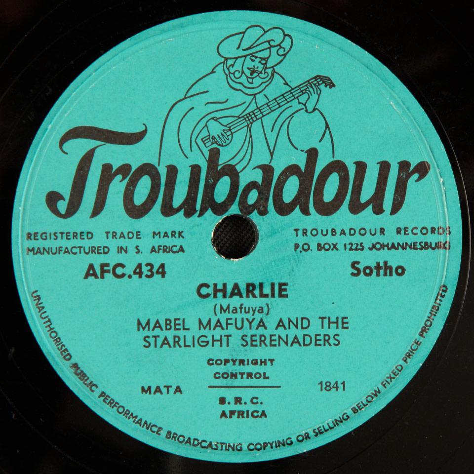 Mabel Mafuya and the Starlight Serenaders - Charlie / Chomie