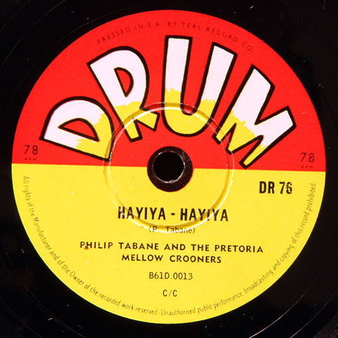 Philip Tabane and the Pretoria Mellow Crooners - Hayiya-Hayiya / Nolizwe