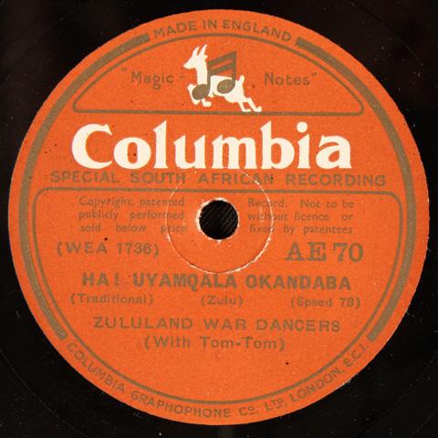 Zululand War Dancers - Ha! Uyamqala Okandaba / Abantu Abamnyama