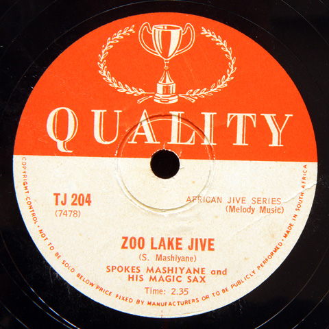Spokes Mashiyane and His Magic Sax - Zoo Lake Jive / D.O.C.C.