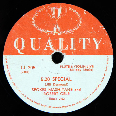 Spokes Mashiyane and Robert Cele - 5.20 Special / Ain't Got Blues