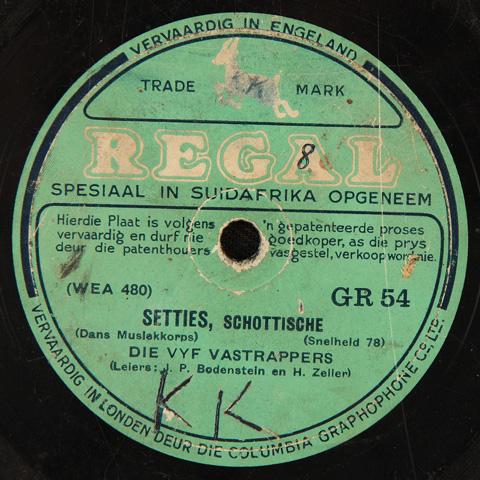 Die Vyf Vastrappers - Setties, Schottische / Polka
