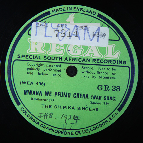 The Chipika Singers - Mwana We Pfumo Chena / Ndo Toregwa Nyika